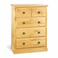 Stafford Pine Four Drawer Dresser Chest Easy Assembly Kit 35 3/4 Wide 48 3/4 Height 20 Projection