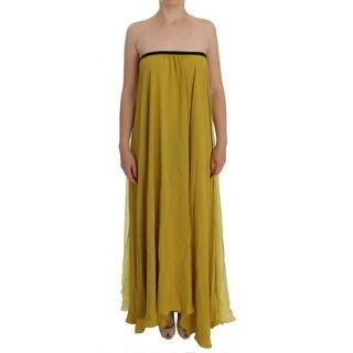 Lamberto Petri Lamberto Petri Mustard Yellow Silk Dress - it42-m