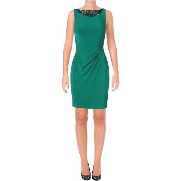 Lauren Ralph Lauren Womens Wear to Work Dress Embellished Knee-Length