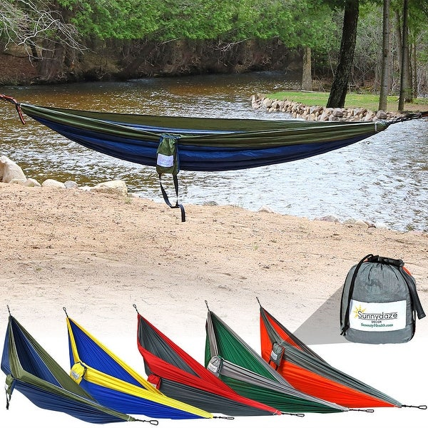 Sunnydaze Double Camping Hammock - Multiple Colors Available