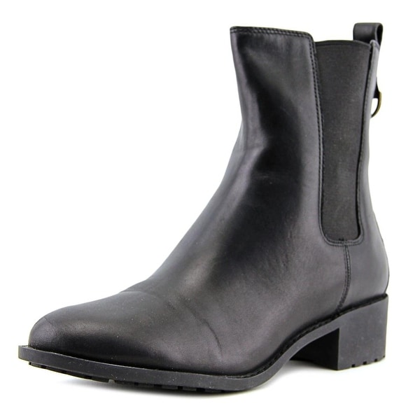 Cole Haan Daryl Short Women Round Toe Leather Black Ankle Boot