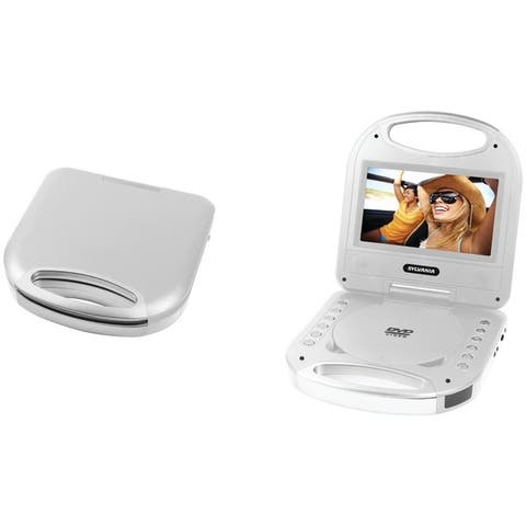 "Sylvania Sdvd7049-Silver 7"" Portable Dvd Player With Integrated Handle (Silver)"