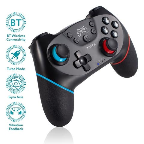 Wireless Pro Controller For Nintendo Switch with Gyro Axis Turbo Dual Vibration - Black