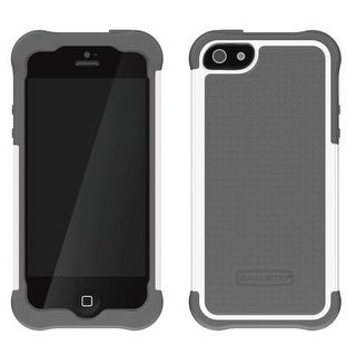 Ballistic SG0926-M185 Shell Gel Case for Apple iPhone 5 (White/Gray)