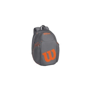 Wilson Burn Collection Tennis Racket Backpack, Grey/Orange