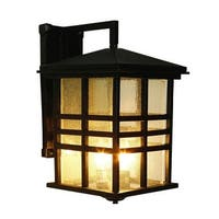 Trans Globe Lighting 4637 Asian Three Light Up Lighting Outdoor Square Wall Sconce from the Outdoor Collection - n/a