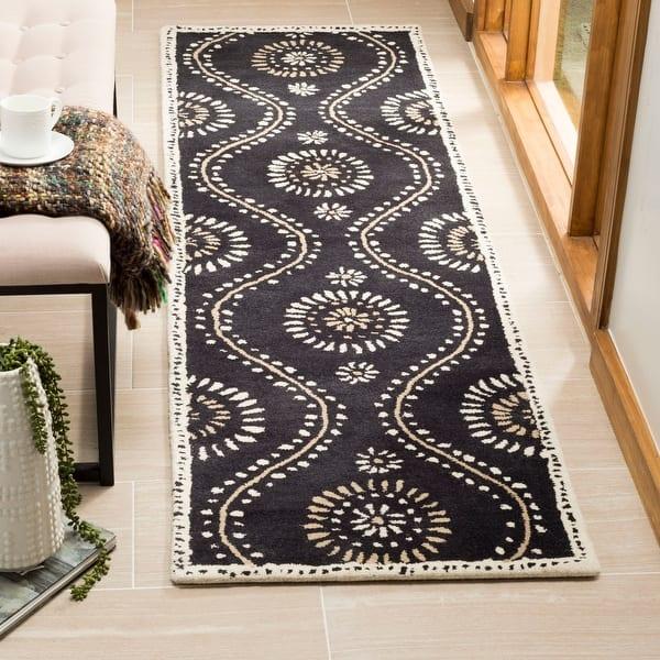 Martha Stewart By Safavieh Handmade Ogee Dot Wool Rug On Sale Overstock 15441375