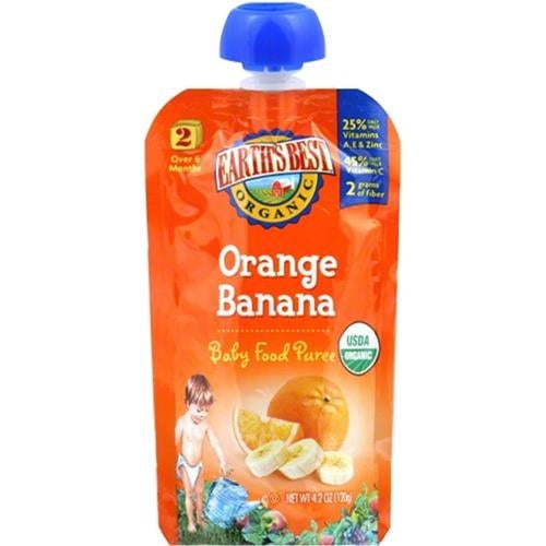 Earth's Best - Organic Orange Banana Puree ( 12 - 4 OZ)