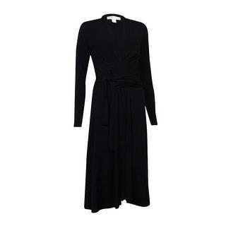 Michael Kors Women's Pleated Self Tie Jersey Dress