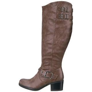 39a13439989 Carlos by Carlos Santana Womens Cara Fabric Closed Toe Mid-Calf Fashion  Boots