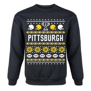Pittsburgh Ugly Mens Crew Fleece Pullover Sweatshirt