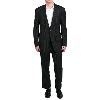 Versace Men's Pinstripe Two-Piece Polyester and Wool Suit Black - 36 r (eur 46r)