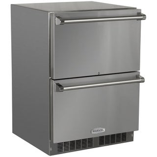 """Marvel MO24RD3N 24"""" Wide 5.7 Cu. Ft. 108-Can Built-In Outdoor Approved Refrigera"""