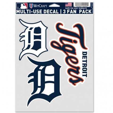 Detroit Tigers Decal Multi Use Fan 3 Pack - As Pictured