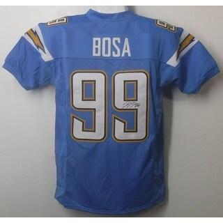 Joey Bosa Autographed San Diego Chargers Blue Size XL Jersey JSA