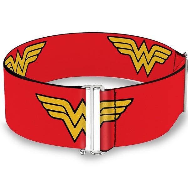 Wonder Woman Logo Red Cinch Waist Belt ONE SIZE