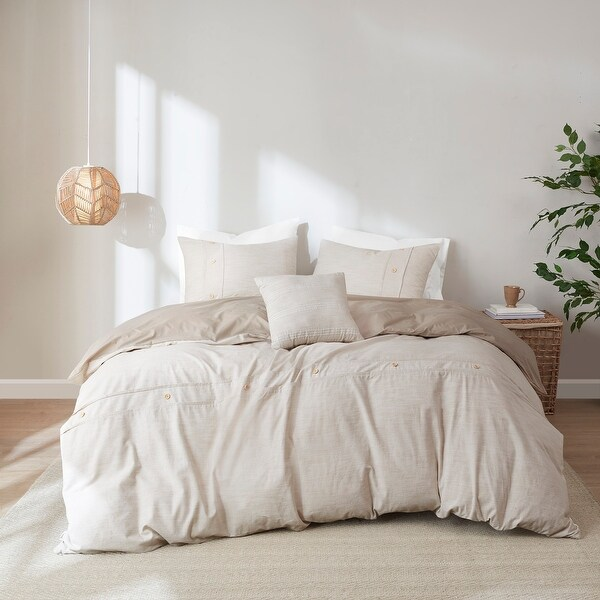 Blakely 5 Piece Organic Cotton Oversized Comforter Cover Set by Clean Spaces. Opens flyout.