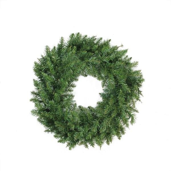 """24"""" Buffalo Fir Artificial Christmas Wreath - Unlit - green"""