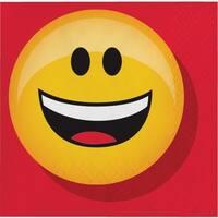 "Show Your Emojions 5"" Paper Beverage Napkins: 16 Count - Multi"
