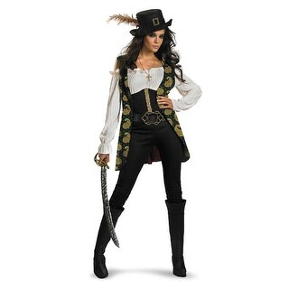 Disguise Disney Pirates of the Caribbean Angelica Deluxe Adult Costume - Black