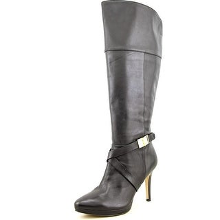 Marc Fisher Tracey 3 Wide Calf Pointed Toe Leather Knee High Boot