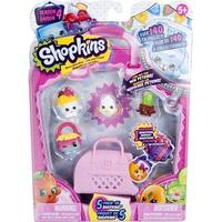 Shopkins 5 Pack Season 4, 5 Shopkins, 1 Petkin Bag - Multi-Colored