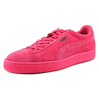 Puma Suede Classic + Men Round Toe Suede Red Sneakers