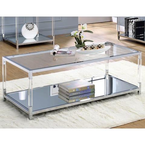 Furniture of America Fald Contemporary Chrome Metal Coffee Table