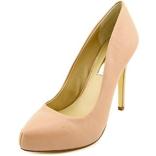 INC International Concepts Bindy Open Toe Leather Platform Heel