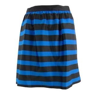 INC Women's Romantique Mini Skirt - black/ blue - 8