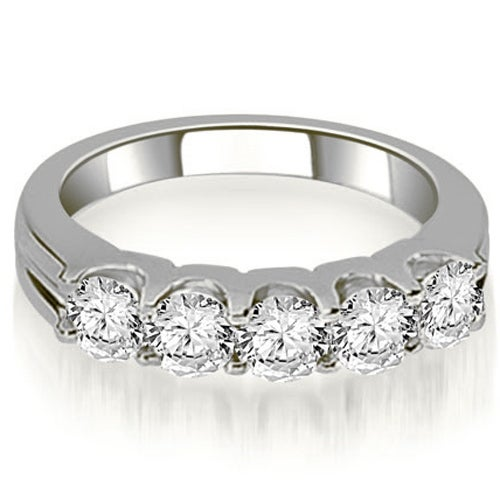 1.00 cttw. 14K White Gold Round Cut Diamond Wedding Band