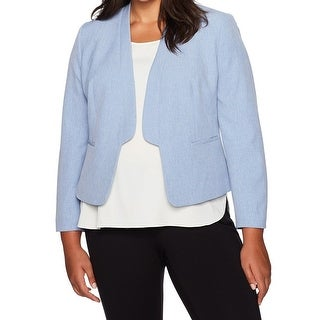 Nine West NEW Breeze Blue Women's Size 14W Plus Band Lapel Jacket