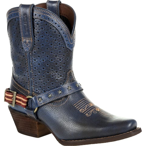 #DRD0374, Crush by Durango® Women's Blue Ventilated Western Boot