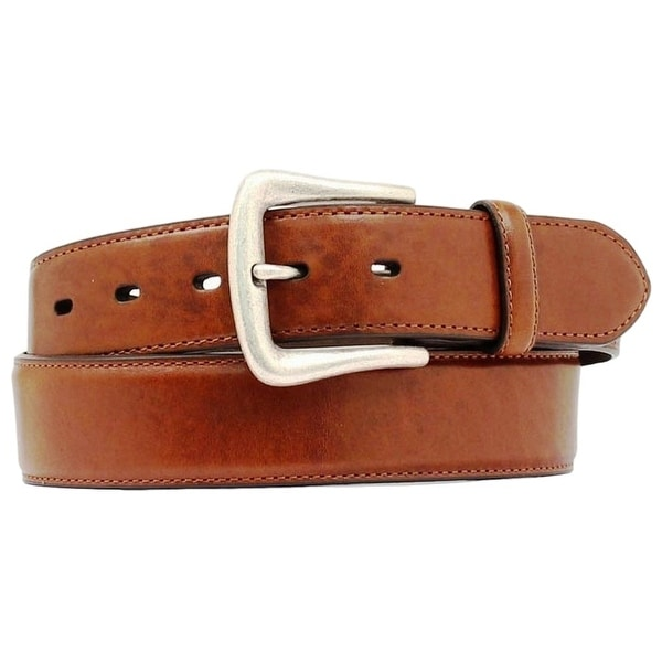 Nocona Western Belt Mens Leather Smooth Overlay Copper