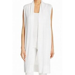 MICHAEL Michael Kors NEW White Women's Small S Cardigan Vest Sweater