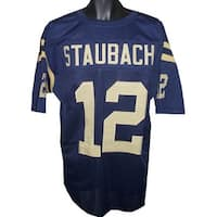 Roger Staubach unsigned Navy TB Custom Stitched Football Jersey XL