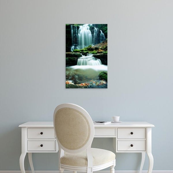 Easy Art Prints Panoramic Images's 'Waterfall Yorkshire England' Premium Canvas Art
