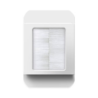 Legrand ACBRSTPW1 In-Wall Cable Access Port - White