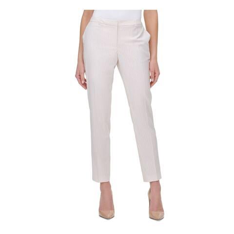 TOMMY HILFIGER Womens Pink Striped Capri Pants Size 8