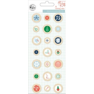 Holiday Vibes Epoxy Buttons 21 Pkg