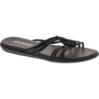 Aerosoles Women's Health Chlub Slide Sandal - black combo