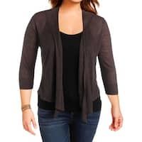 Nic + Zoe Womens Cardigan Sweater Linen Four Way