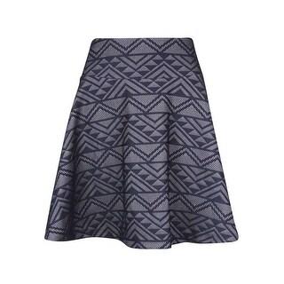 INC International Concepts Women's Aztec Print A-Line Skirt - aztec print - M