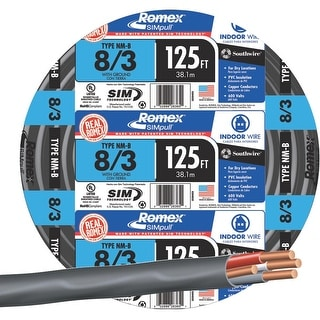 Southwire 125 8-3 Nmw/G Wire