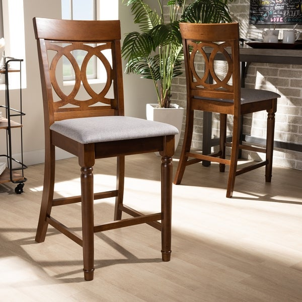 Violet Modern and Contemporary 2-Piece Counter Height Pub Chair Set. Opens flyout.
