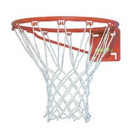 Sportime No-Whip Nylon Basketball Nets, Pack of 2, White