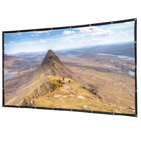 Gymax 120'' 16:9 Portable Projector Screen High Contrast Collapsible