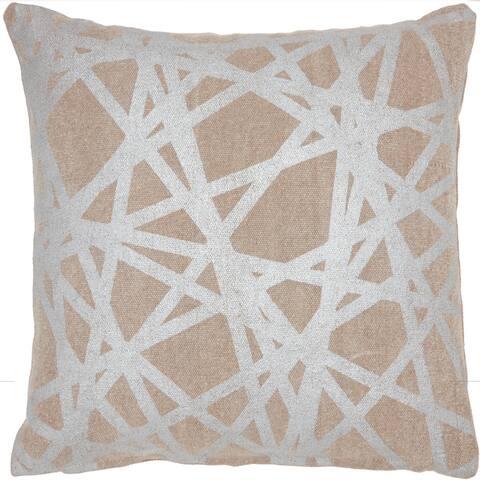 """Kathy Ireland Metallic Geometric Abstract Modern Throw Pillow , ( 18""""X18"""" )"""
