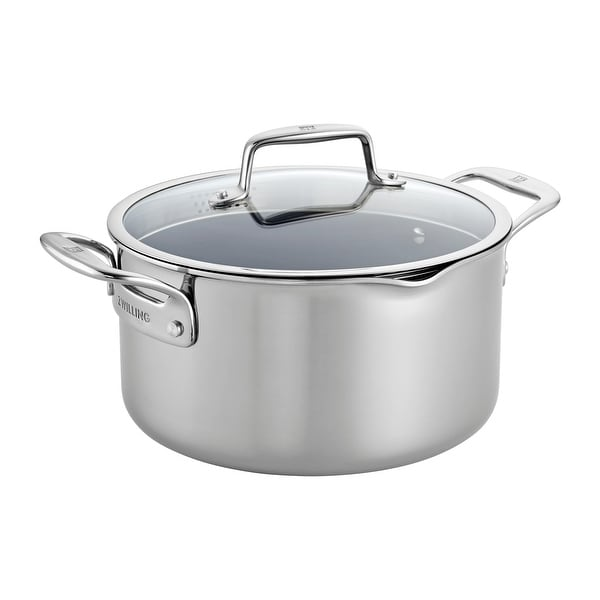 ZWILLING Clad CFX 6-qt Stainless Steel Ceramic Nonstick Dutch Oven - Stainless Steel. Opens flyout.
