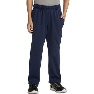 Hanes Sport Boy's Tech Fleece Open Leg Pants - Color - Navy - Size - M